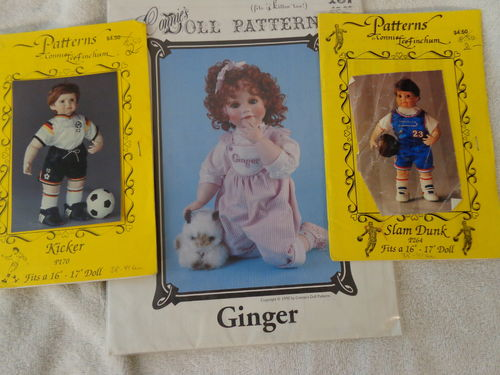 2 Puppenschnittmuster von Connie's Doll Patterns