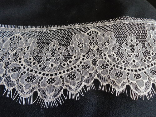 "Fine french lace 4"" wide champagne"