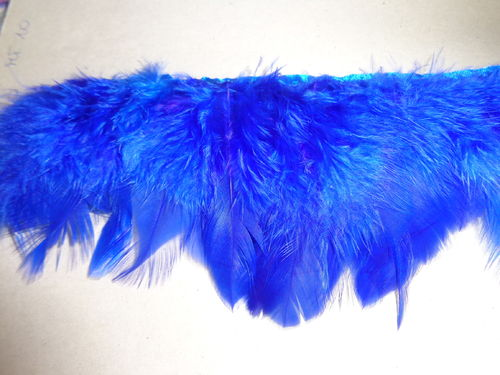 feathers on trim frenchblue