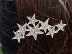 hairpin with strass stars